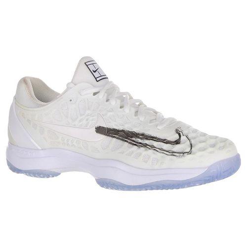 Nike Air Zoom Cage 3 Mens Tennis Shoe - White/Metallic Summit/Black/Canary
