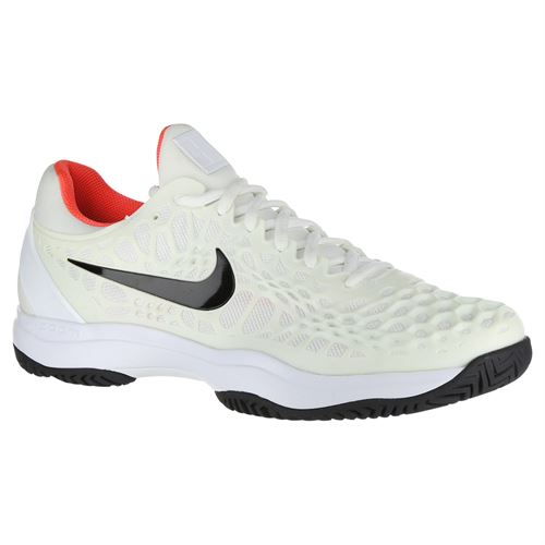 cff271eb7224 Nike Zoom Cage 3 Mens Tennis Shoe - White Black Bright Crimson
