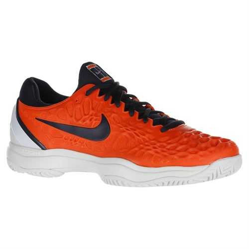 Nike Zoom Cage 3 Mens Tennis Shoe - Hyper Crimson/Gridiron/White