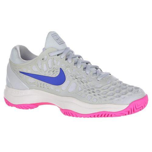 Nike Zoom Cage 3 Womens Tennis Shoe - Pure Platinum/Racer Blue/Metallic Platinum
