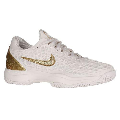 Nike Zoom Cage 3 Womens Tennis Shoe Phantom/Metallic Gold 918199 007