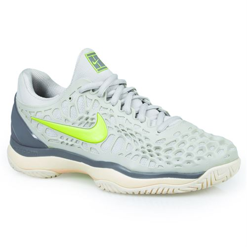 Nike Zoom Cage 3 Womens Tennis Shoe - Vast Grey/Volt Glow/Gunsmoke/Guava Ice
