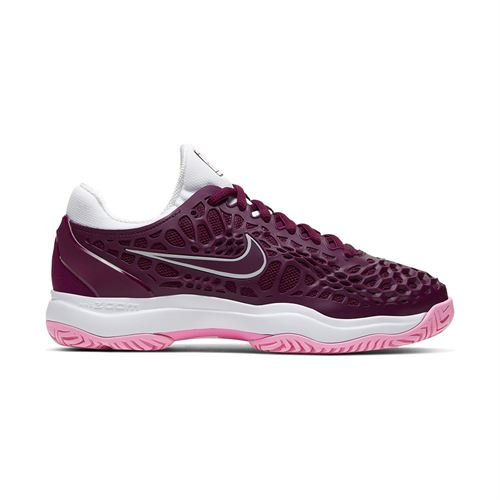 Nike Zoom Cage 3 Womens Tennis Shoe Bordeaux/White/Pink Rise 918199 603
