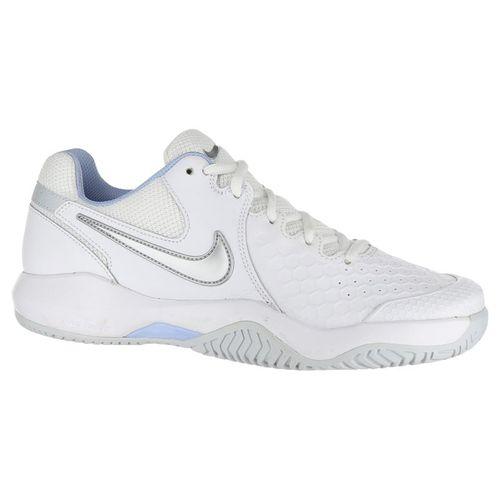 519c77763775a Nike Air Zoom Resistance Womens Tennis Shoe - White/Metallic Silver/Pure  Platinum