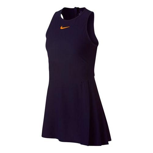 Nike Court Zonal Cooling Slam Dress - Blackened Blue/Orange Peel