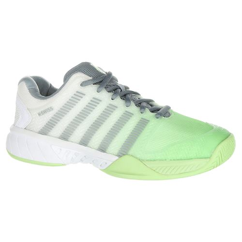 K Swiss Hypercourt Express Womens Tennis Shoe - White/Paradise Green/Abyss
