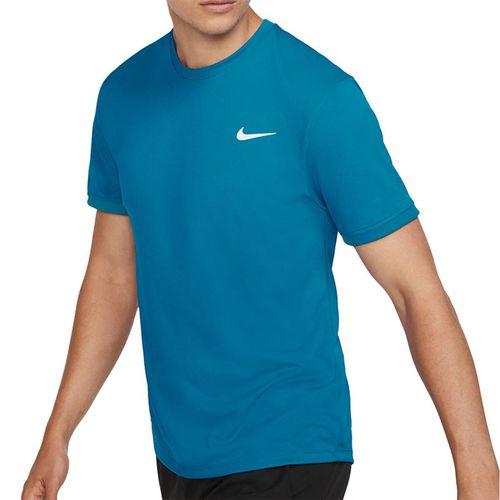 Nike Court Dri Fit Crew Shirt Mens Neo Turquoise/White 939134 425