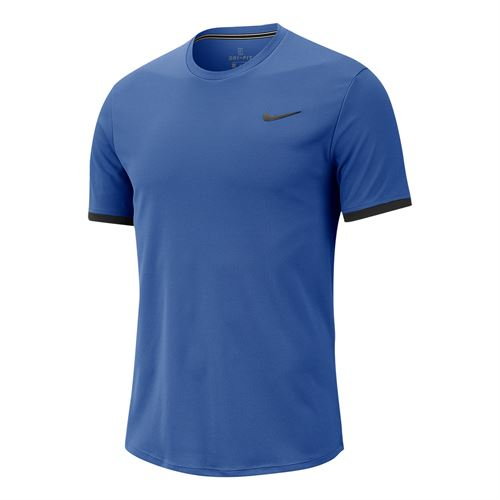 Nike Court Dri Fit Crew Shirt Mens Game Royal/Black 939134 480