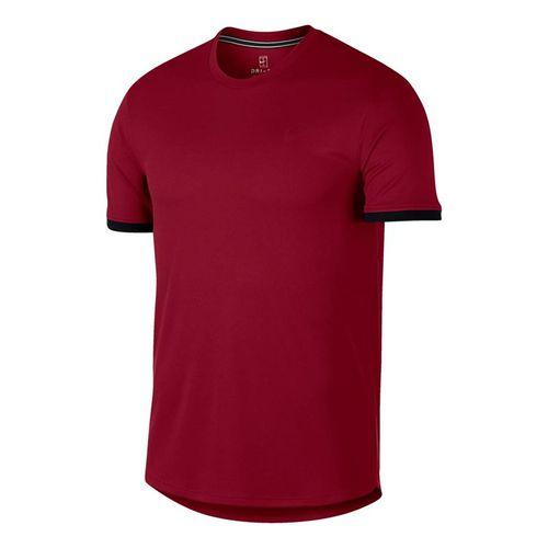 Nike Court Dry Crew - Team Crimson/Black
