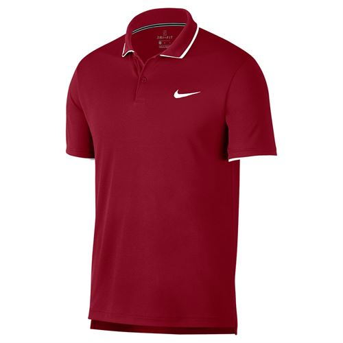 Nike Court Dry Team Polo - Team Crimson/White