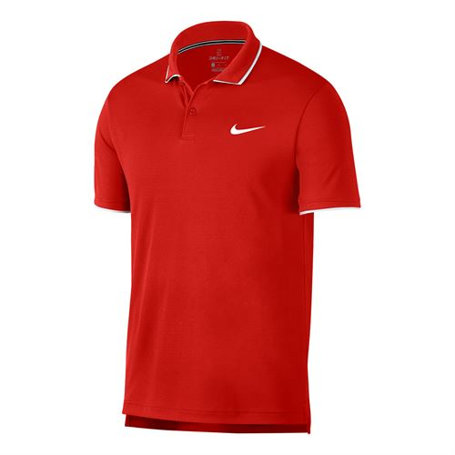 42c290398fff7e Nike Court Dry Team Polo - Habanero Red White