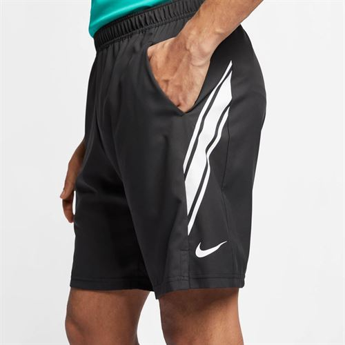 Nike Court Dry 9 Inch Short - Black/White