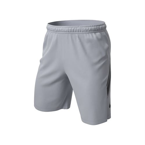 Nike Court Dry 9 inch Short Mens Sky Grey/Black 939265 042