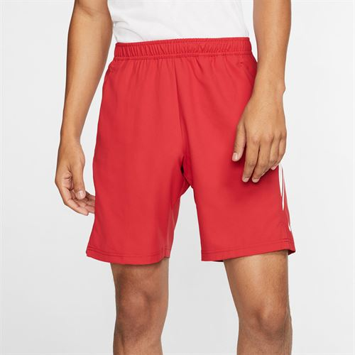 Nike Court Dry 9 inch Short Mens Gym Red/White 939265 688