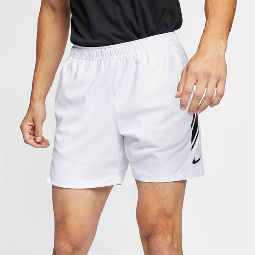 Nike Court Dry 7 Inch Short - White/Black