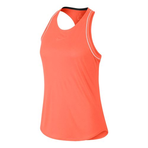 Nike Court Dri Fit Tank - Orange Pulse/White