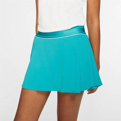 Nike Court Flouncy Skirt - Teal Nebula/White