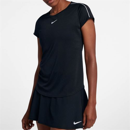 Nike Court Dry Top - Black/White