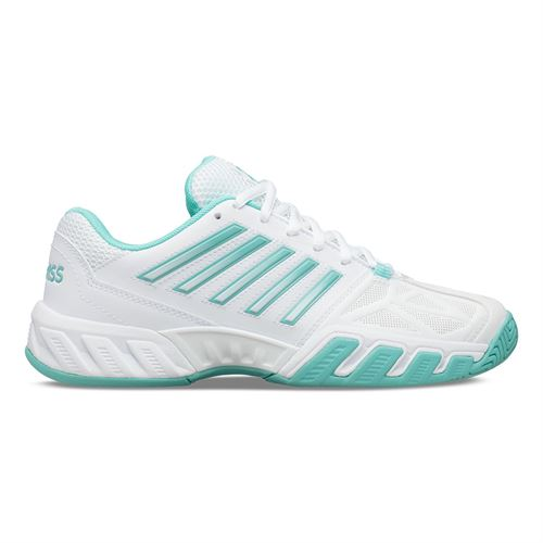 K Swiss Bigshot Light 3 Womens Tennis Shoe White/Aruba Blue 95366 121
