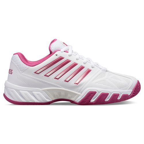 K Swiss Bigshot Light 3 Womens Tennis Shoe White/Cactus Flower 95366 126