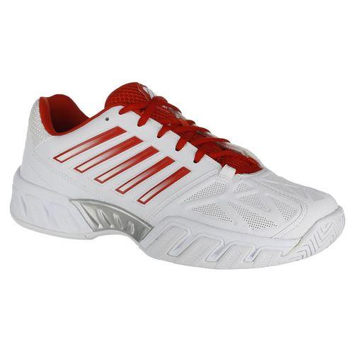buy online 90f07 0e879 K Swiss Bigshot Light 3 Womens Tennis Shoe - White Fiesta Silver