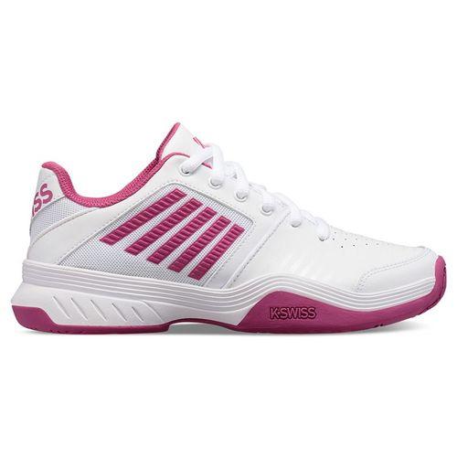 K Swiss Court Express Womens Tennis Shoe White/Cactus Flower 95443 126