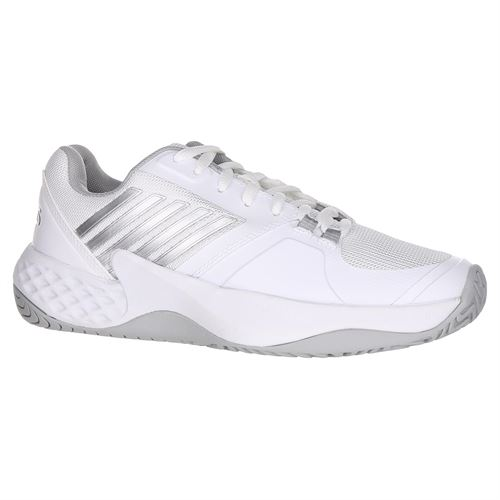 K Swiss Aero Court Womens Tennis Shoe - White/Highrise/Silver