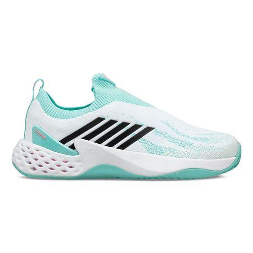 K Swiss Aero Knit Womens Tennis Shoe White/Aruba Blue/Soft Neon Pink 96137 123