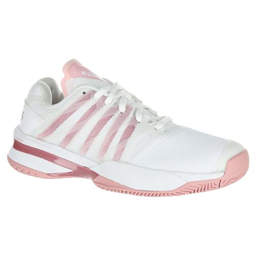 K Swiss Ultrashot 2 Womens Tennis Shoe - White/Coral Blush