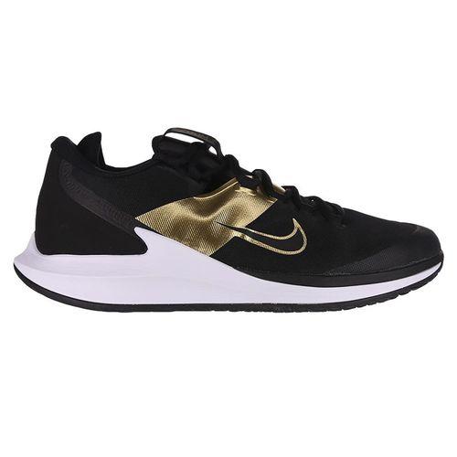 Nike Court Air Zoom Zero Mens Tennis Shoe Black/Metallic Gold/White AA8018 005
