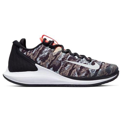 Nike Court Air Zoom Zero Mens Tennis Shoe - Photon Dust/White/Black/Hyper Crimson