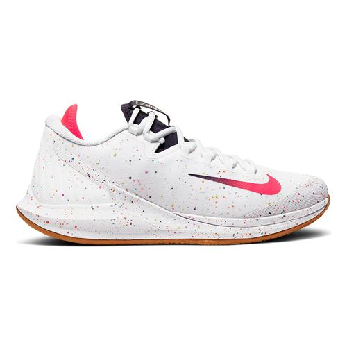 Nike Court Air Zoom Zero Mens Tennis Shoe White/Laser Crimson/Gridiron/Wheat AA8018 101