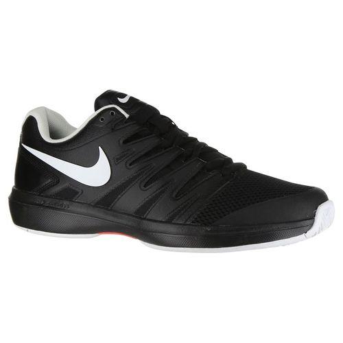Nike Air Zoom Prestige Mens Tennis Shoe - Black/White/Bright Crimson