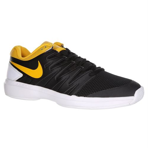 Nike Air Zoom Prestige Mens Tennis Shoe - Black/University Gold/White