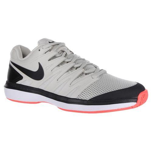 Nike Air Zoom Prestige Mens Tennis Shoes - Light Bone/Black/Hot Lava/White