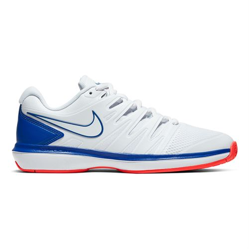 Nike Air Zoom Prestige Mens Tennis Shoe - White/Game Royal/Flash Crimson