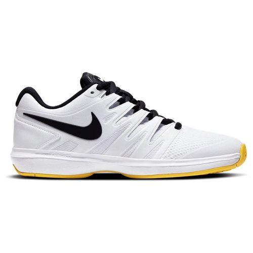 Nike Air Zoom Prestige Mens Tennis Shoe White/Black/Speed Yellow AA8020 104