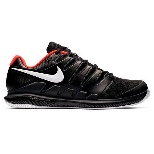 separation shoes cb189 f3b20 Nike Air Zoom Vapor X Clay Mens Tennis Shoe - Black White Bright Crimson