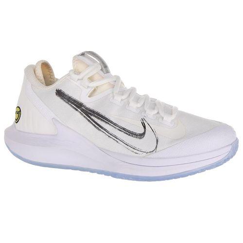 Nike Court Air Zoom Zero Womens Tennis Shoe - White/Metallic Summit/White/Black/Canary