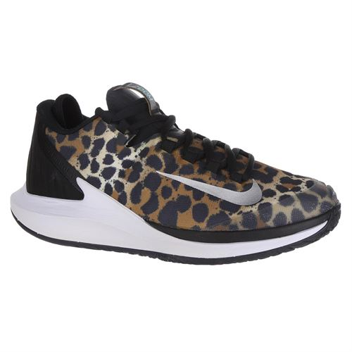 Nike Court Air Zoom Zero Womens Tennis Shoe - Wheat/Metallic Silver/Hyper Jade