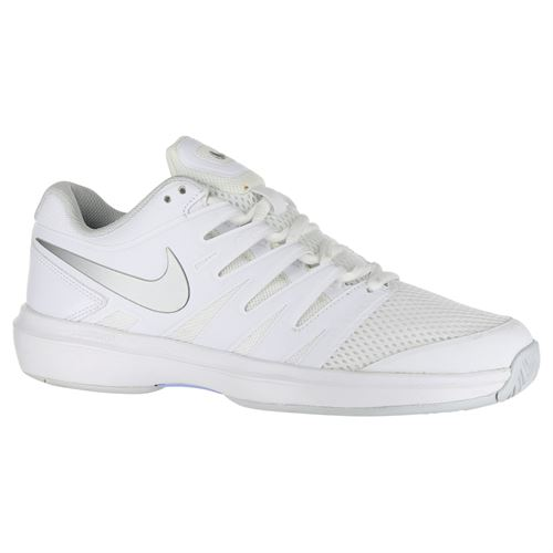 3b6260f6d8d Nike Air Zoom Prestige Womens Tennis Shoe - White Metallic Silver Pure  Platinum