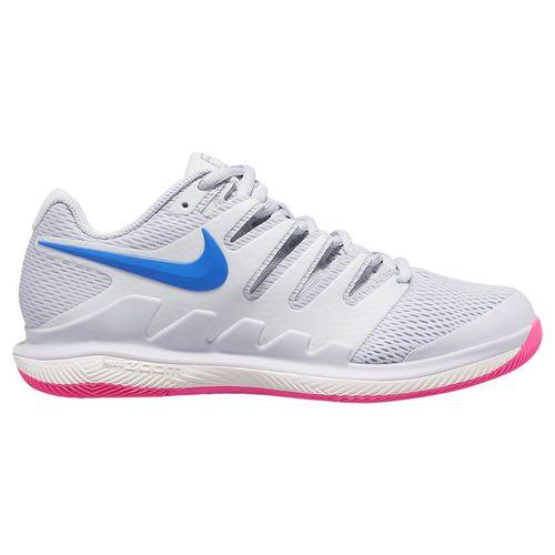 Nike Air Zoom Vapor X Womens Tennis Shoe - Pure Platinum/Racer Blue/Metallic Platinum