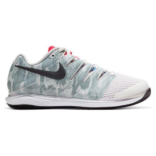 Nike Court Air Zoom Vapor X Womens Tennis Shoe Platinum Tint/Thunder Grey/Laser Crimson AA8027 009