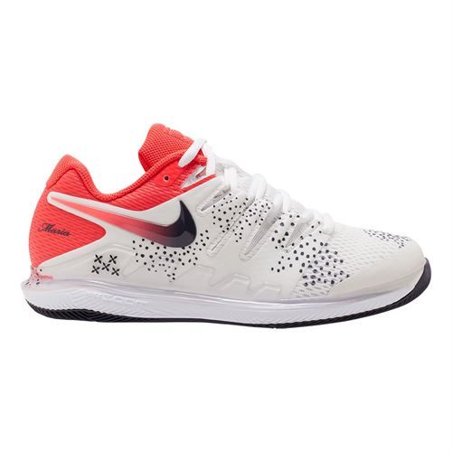 Nike Court Air Zoom Vapor X Womens Tennis Shoe Summit White/Laser Crimson/Gridiron AA8027 108