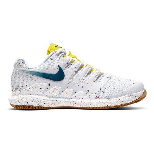 Nike Court Air Zoom Vapor X Womens Tennis Shoe White/Valerian Blue/Opti Yellow/Wheat AA8027 109