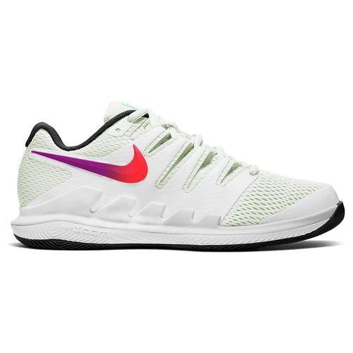 Nike Air Zoom Vapor X HC Mens Tennis Shoe Summit White/Black/Electro Green AA8030 112
