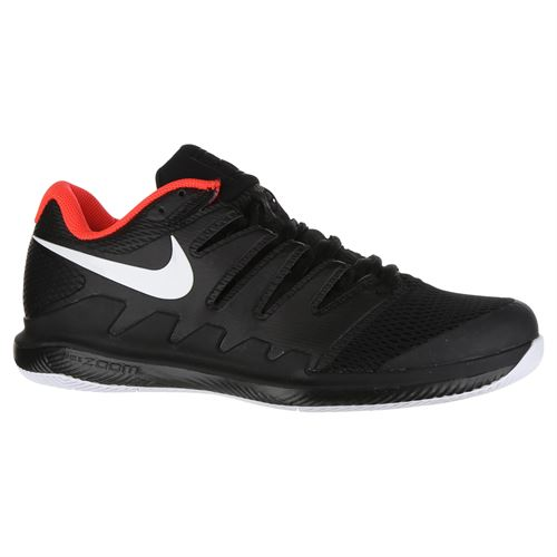 bb83364483e6f Nike Air Zoom Vapor X Mens Tennis Shoe - Black White Bright Crimson