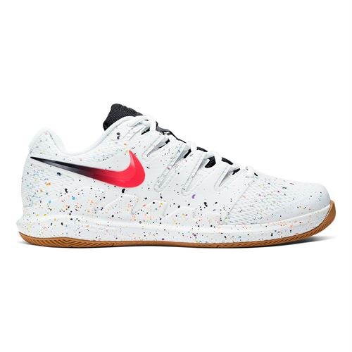 Nike Air Zoom Vapor X Mens Tennis Shoe White/Laser Crimson/Oracle Aqua/Off Noir AA8030 108
