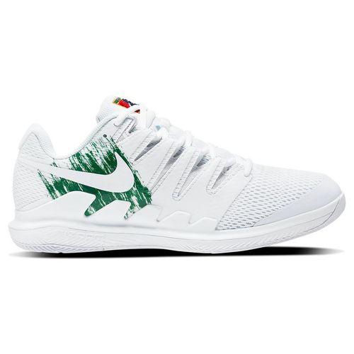Nike Court Air Zoom Vapor X Mens Tennis Shoe White/Clover/Gorge Green AA8030 111