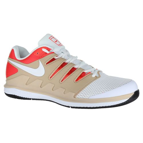 8fc9c8878208 Nike Air Zoom Vapor X Mens Tennis Shoe - Bio Beige White Crimson